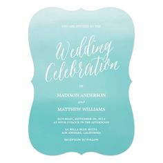 Find customizable Wedding invitations & announcements of all sizes. Pick your favorite invitation design from our amazing selection. Rehearsal Dinner Invitations, Beach Wedding Invitations, Wedding Invitation Design, Bridal Shower Invitations, Custom Invitations, Invites, Seaside Wedding, Beach Weddings, Wedding Suite