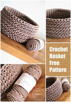 Create your own crochet baskets with FREE video tutorial and a written pattern. Tips that will help you crochet lovely crochet baskets in different sizes Crochet Crafts, Yarn Crafts, Crochet Yarn, Crochet Stitches, Crochet Hooks, Crochet Projects, Free Crochet, Simple Crochet, Crochet With Cotton Yarn