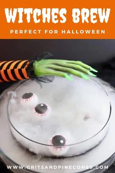 Spooktacularly delicious Witches' Brew – this Alcoholic Halloween Punch will take the fear out of hosting a Halloween party. This delicious adults-only Halloween punch sets the stage for a fun evening full of vampires and ghoulish Halloween party food. And, with my simple, easy-to-follow-recipe directions and a little dry ice, the only thing scarier might be just how much you will consume! Halloween Punch, Halloween Appetizers, Halloween Food For Party, Tequila Wine, Pomegranate Juice, Recipe Directions, Witches Brew, Food Themes, Simple Syrup