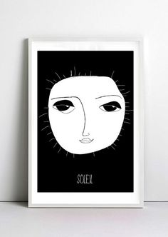 Sun print - sun illustration -sun poster-  quote art print by nicemiceforyou