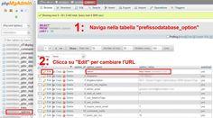 Cambiare URL a WordPress con phpMyAdmin