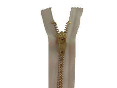 Zíper de metal grosso - dourado - fixo. Site: http://nacelleaviamentos.com.br/ziperes/vislon/ziper-fixo-dourado2013-06-11-18-28-03-detail Tel: (11) 2790-2244