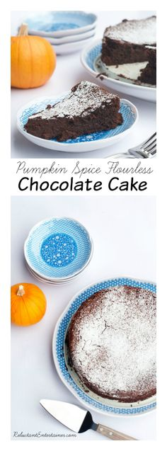 Pumpkin Spice Flourless Chocolate Cake at Reluctant Entertainer