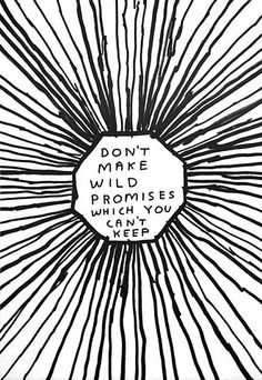 Go Buy Now: David Shrigley's Don't make wild promises which you can't keep