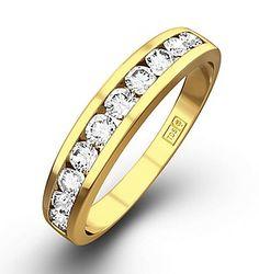 Half Eternity Ring 0.50CT Diamond 9K Yellow Gold - Item E3889. #thediamondstoreuk #eternityring #ring #jewellery #eternity #diamonds