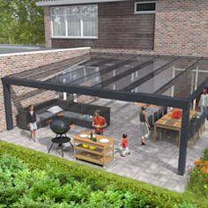 23 Ideas Cheap Patio Furniture Dining Rooms For 2019 Outdoor Pergola, Pergola With Roof, Outdoor Decor, Pergola Kits, Pergola Ideas, Casa Patio, Patio Roof, Flagstone Patio, Concrete Patio