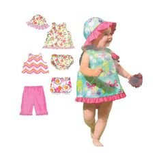 Uncut Baby Girl's Summer Separates Pattern McCalls 6539