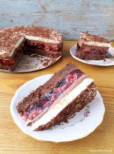 Sweet Desserts, Sweet Recipes, Baking Recipes, Dessert Recipes, Polish Recipes, Mini Muffins, Homemade Cakes, No Bake Cake, Food And Drink