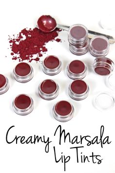 Creamy Marsala Lip Tints Recipe Inspired by the Pantone color of the year for these lip tints give your pucker an incredibly wearable wine colored hue. Homemade Lip Balm, Diy Lip Balm, Homemade Beauty, Homemade Deodorant, Diy Beauté, Lip Balm Recipes, Soap Recipes, Lipgloss, Homemade Cosmetics