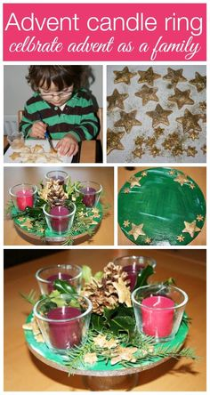 How to make a child safe advent candle ring, advent wreath or advent candles for Christmas by mum in the mad house