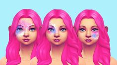 """pastel-sims: """" ♥ Galaxy Face Markings! (More? I know right.) Found under 'skin details.' ♥ DOWNLOAD ♥ Do not steal my work or upload it to ANY pay sites. ♥ If you take a photo wearing my cc, please tag me and I will reblog you! I follow this tag:..."""