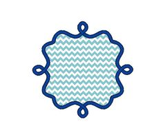 Frame B Applique Machine Embroidery DesignINSTANT by SewChaCha, $3.00