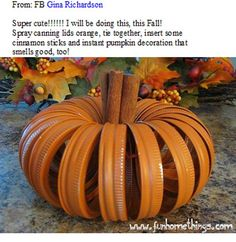 FALL Decoration - easy pumpkin decoration