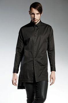 camisa decolor negro de algodón