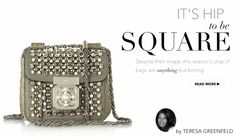 It's hip to be square - http://www.oliviapalermo.com/its-hip-to-be-square/ It's no secret we love a good bag; from Doctor's to Long Handle, we've waxed poetically, even professed our undying love and devotion – as though they were extensions of our own bodies.