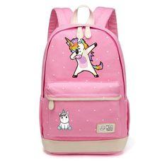 Dabbing Unicorn Canvas Backpack