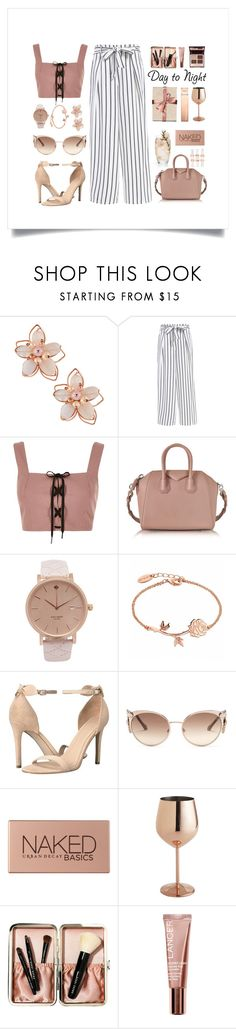 """""""Suede Pink & Stripes"""" by thedailywear ❤ liked on Polyvore featuring NAKAMOL, River Island, Givenchy, GUESS, Roberto Cavalli, Urban Decay, Pier 1 Imports, Bobbi Brown Cosmetics, Lancer Dermatology and Charlotte Tilbury"""