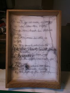 'Stitched quotes by Maria Wigley all rights reserved  #embroidery #textiles…