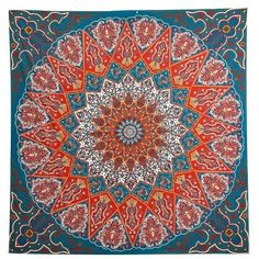 Indian Mandala Print  Square Beach Throw (€7,49) ❤ liked on Polyvore featuring home, bed & bath, bedding, blankets, indian throw blankets, mandala throw blanket, indian bedding, mandala blanket and indian blanket