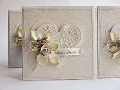 wedding card by Dorota_mk: Trochę lata, trochę zimy w lecie :) Wedding Anniversary Cards, Wedding Card, Scrapbook Cards, Scrapbooking, Shabby Chic Cards, Engagement Cards, Embossed Cards, Some Cards, Wedding Crafts