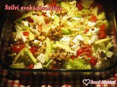 Régóta tervezem elkészíteni Szilvi barátnőm csodás avokádósalátáját, amelyre végre a húsvéti hétvégén sort is kerítettem. Mint a legtöbb sa... Pasta Salad, Cobb Salad, Feta, Potato Salad, Cabbage, Tacos, Potatoes, Chicken, Vegetables