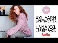 agujas circulares con sólo un ovillo Katia Poncho Knitting Patterns, Knitting Yarn, Crochet Clothes, Diy Clothes, Knit Crochet, Crochet Hats, Wooly Hats, Seed Stitch, Knitting Videos