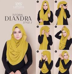 This chiffon hijab style will be your soft comfy and stylish look for this summe. This chiffon hijab style will be your soft comfy and stylish look for this summer days chiffon hija Square Hijab Tutorial, Simple Hijab Tutorial, Hijab Style Tutorial, Stylish Hijab, Hijab Chic, Islamic Fashion, Muslim Fashion, Fashion Fashion, Hijab Dress