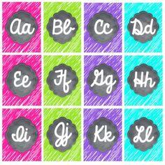 Classroom Crafts, Kindergarten Classroom, Kindergarten Activities, Preschool, School Resources, Teacher Resources, Teaching Ideas, Cursive Alphabet, Alphabet Posters