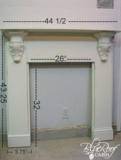 Faux Fireplace Mantel dimensions 8