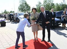 King Carl Gustaf and Queen Silvia attend the National Day celebrations in Kosta, Vaxjo.