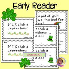This is a rhyming book with cute little graphics.  I added a writing activity page that begins with: If I catch a leprechaun, I will...The colored graphics will reproduce fine in black and white.  It's just the thing for K-2 and I'm going to use it because it is a holiday activity the kids can do that gets in a bit of reading and writing.The craftivity is Lucky the Leprechaun character that could be made into a little puppet or glued into an interactive notebook.