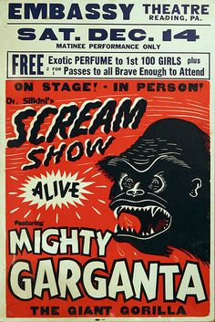 "I've been feeling like screaming recently. I need to go to a ""scream show""."