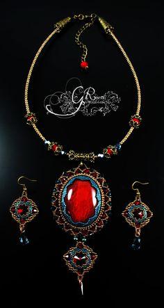 RESERVADO. Collar de estilo barroco por GuzialiaReedJewelry en Etsy