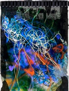 Asemic writing Art // calligraffiti by Nuno de Matos // www.nunodematos.com