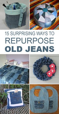 15 wonderful crafts out of old jeans