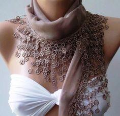 Scarf  Cotton scarf Soft  ScarfStone ColorElegance Scarf by womann, $13.50
