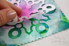 from the Balzer Designs Blog: #ScanNCut Freezer Paper Techniques