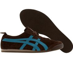 Asics Womens Onitsuka Tiger Mexico 66 (brown / blue coral) HL474-2843 - $79.99