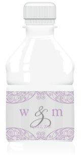 Water Bottle Labels - Charming Lavender | MagnetStreet