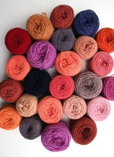 Onion skins and rhubarb leaves are among the natural ingredients we used to dye wool from our own flock of Lleyn sheep
