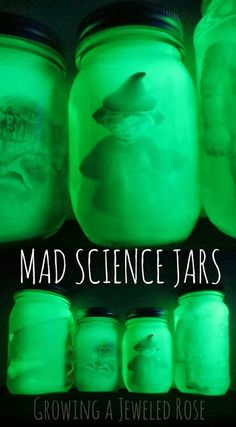 Glowing Mad Science Jars ~ Growing A Jeweled Rose