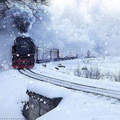 Polar express, Brockenbahn in the Harz, Germany | photo by @timo_tomkel #earthfocus