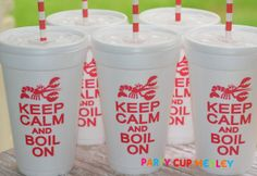 Crawfish Boil Party CupsGraduation PartySet of by PartyCupMedley, $14.40