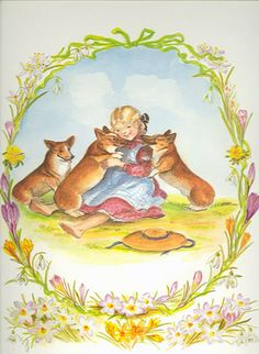 Cellar Door Books: CORGI KISSES [print]. Tasha Tudor - The World of Tasha Tudor