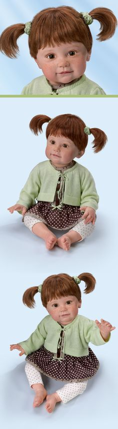 Fall for the freckled charms of this lifelike child doll by Artist Ping Lau!