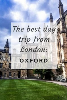 """""""The best Day Trip from #London: #Oxford in a day"""" via @opupyourtrip"""