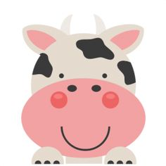 Daily Freebie 5-28-15: Miss Kate Cuttables--Peeking Cow SVG scrapbook cut file cute clipart files for silhouette cricut pazzles free svgs free svg cuts cute cut files