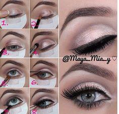 makeup, eyes, tutorial