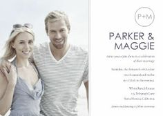 How cute is this!!! Picture of the couple to be and all the details!! Mixbook Modern Photo Wedding Invitations
