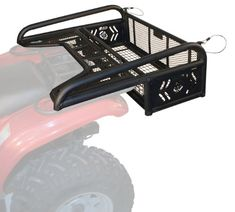 "Kolpin Collapsible Rear Drop Rack Talk about useful… now you can easily take along the gear and supplies you'd normally have to leave behind! No more straining to lift heavy cargo items up and over the back of your ATV cargo basket just lower the 8″ tall cable-supported tailgate to load and unload then lock it in the upright position for transport. It works just like the tailgate on a pickup truck. Inside drop area dimensions are 12″ x 37 ½"" with an 8″ drop – fits three 5 gal bucket.."
